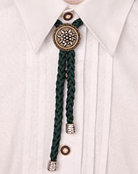 """Edelweiss"" cord-necklace green"
