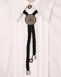 """Edelweiss"" cord-necklace black"