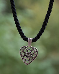 """Herz"" necklace black"