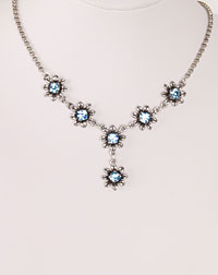 """Blume"" necklace light blue"
