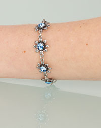 """Blume"" bracelet light blue"