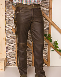 """Flawil"" leather trousers"