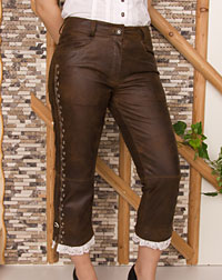 """Bergsee"" leather trousers"