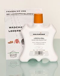 Detergent for leather and hide