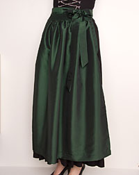 Dirndl apron dark green