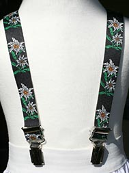 elastic braces with edelweiss design...