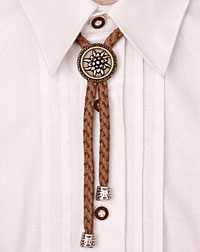 """Edelweiss"" cord- necklace cognac"