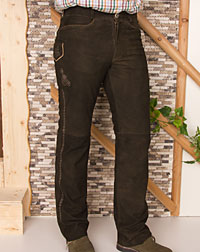 """Wigand"" leather trousers"