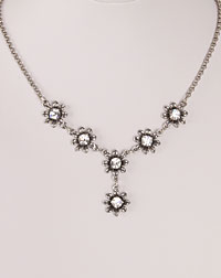 """Blume"" necklace crystal"