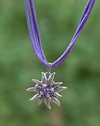"""Edelweiß"" necklace lilac"