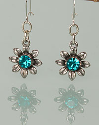 """Blume"" earrings turquoise"