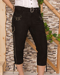 """Vicky"" leather trousers"