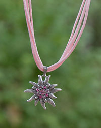 """Edelweiß"" necklace rose"