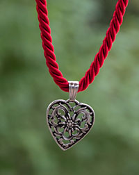 """Herz"" necklace red"