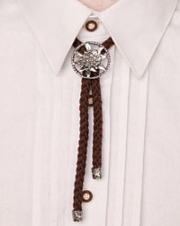 Cord- necklace brown