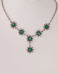 """Blume"" necklace emerald"