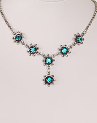 """Blume"" necklace turquoise"