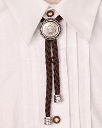 """Wappen"" cord- necklace brown"