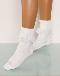 Socks with a frill