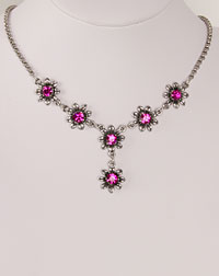 """Blume"" necklace fuchsia"
