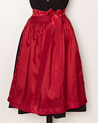 Apron medium- length, red