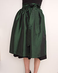 Apron medium- length, emerald