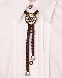 """Edelweiss"" cord-necklace brown"