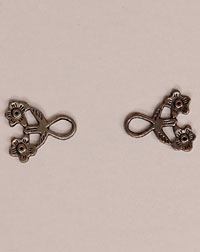 Hooks for dirndl, one pair