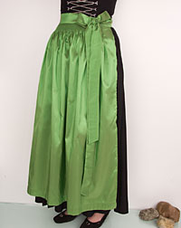 Apron long, apple- green