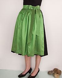 Apron medium- length, apple- green