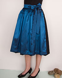 Apron medium- length, blue