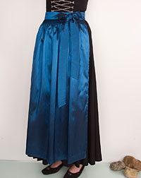 Apron long, blue