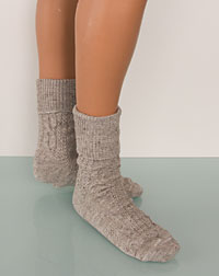 Socks grey- brown melange