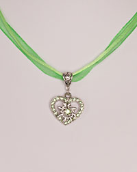 """Lilli"" necklace apple green"