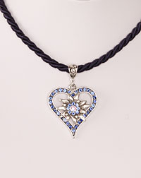 """Vroni"" necklace blue"