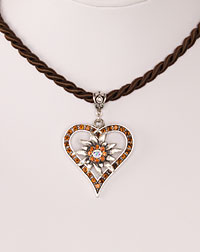 """Vroni"" necklace brown"