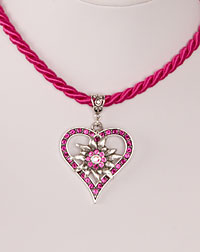 """Vroni"" necklace fuchsia"