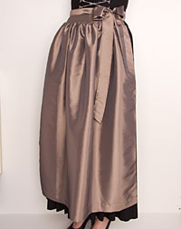 Apron long, taupe