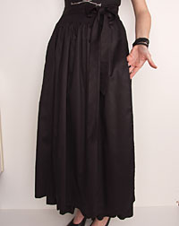 Cotton apron long, black