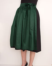 Cotton apron medium-length, emerald