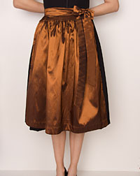 Apron medium- length, copper