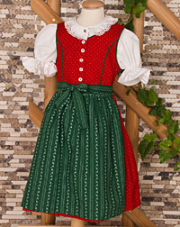 """Petershagen"" dirndl, blouse, apron"