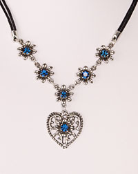 """Elsa"" necklace blue"