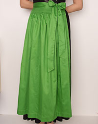 Cotton apron long, apple green