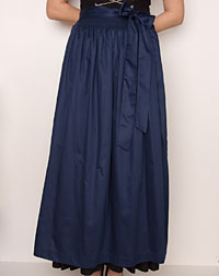 Cotton apron long, navy
