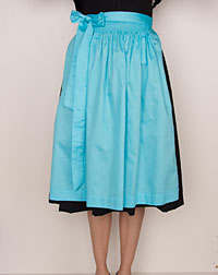Cotton apron medium-length, turquoise