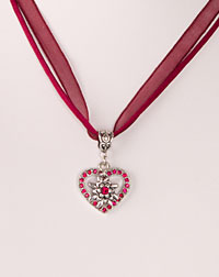 """Lilli"" necklace bordeaux"