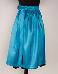 Apron medium- length, turquoise
