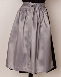 Apron, medium-length, silver