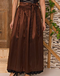 Apron long, brown